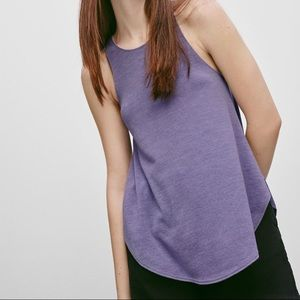 Aritzia Wilfred Free Purple Tank